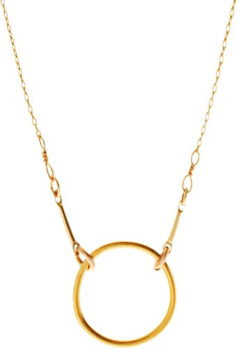 Dogeared Dog-Eared Gold Dipped Original Karma Necklace - Lyst