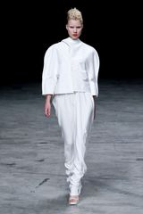 Rick Owens Spring 2012 Bright White HoodNeck Cape Jacket  in White - Lyst