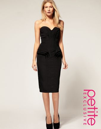 ASOS Collection Asos Petite Exclusive Bandeau Dress with Fold Detail - Lyst