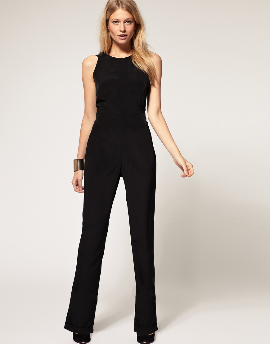Lyst Asos Collection Asos Petite Exclusive Jumpsuit With Cross