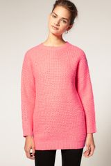 ASOS Collection Asos Bright Oversized Jumper - Lyst