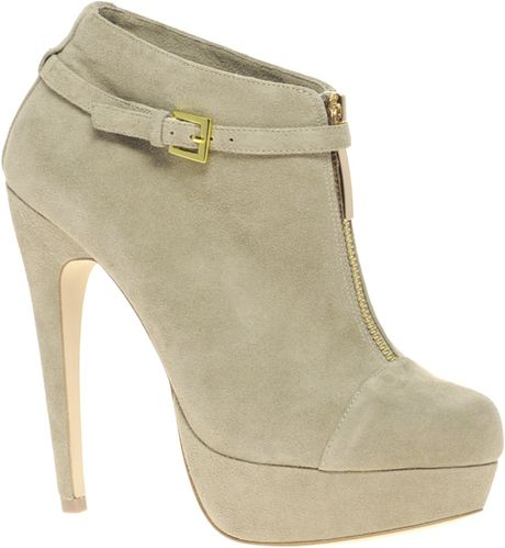 Asos Asos Tino Suede and Zip Ankle Shoe Boot in Gray (grey) - Lyst