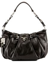 Prada Soft Calf Buckle Hobo - Lyst