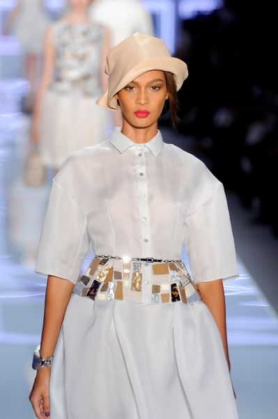 Dior Spring 2012 Leather Cloche Hat in Beige - Lyst