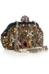 Dolce & Gabbana Jewel And PearlEmbellished Clutch in Multicolor (pearl) - Lyst
