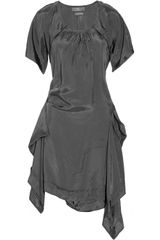 McQ by Alexander McQueen Stitch-detail Silk Dress - Lyst