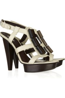 Calvin Klein Kelly Leather Sandals - Lyst