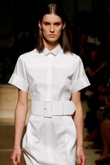 Celine Spring 2012 White Belted Shirt Dress - Lyst