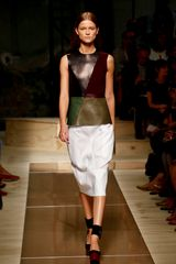 Celine Spring 2012 White Crosshatch Detail Pencil Skirt  - Lyst
