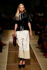 Celine Spring 2012 Two-Tone Wide Leg Cropped Pants  - Lyst