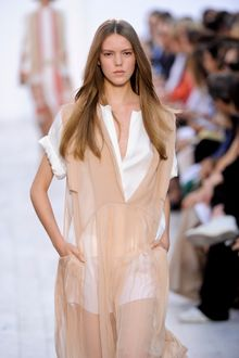 Chloé Spring 2012 White Short Sleeve Shirt Dress - Lyst