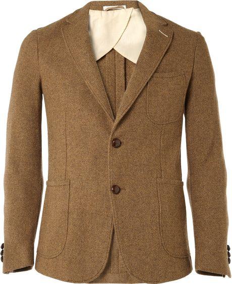 Gant Rugger Herringbone Tweed Suit Blazer Men S Fashion