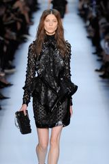 Givenchy Spring 2012 Black Sequin Top With Undulating Lapels - Lyst