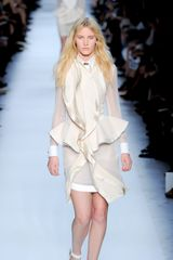 Givenchy Spring 2012 Sheer White Blouse with Cuff Details - Lyst