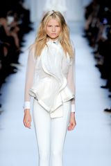 Givenchy Spring 2012 Sheer White Blouse - Lyst