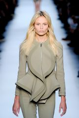 Givenchy Spring 2012 Peplum Jacket with Undulating Lapel