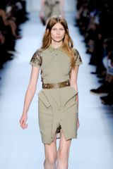 Givenchy Spring 2012 Structured Asymmetrical Mini Skirt In Khaki - Lyst