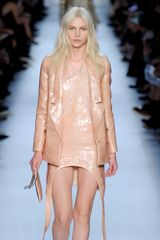 Givenchy Spring 2012 Sequinned Jacket With Undulating Lapels In Peach - Lyst
