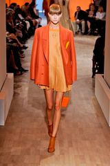 Hermes Spring 2012 Orange Sheer Mesh Ankle Boot
