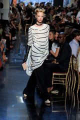 Jean Paul Gaultier Spring 2012 Stripey Sailor Jersey Tunic in White (black) - Lyst