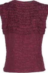 Marc Jacobs Ruffled Sleeveless Top - Lyst