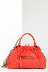 Marc Jacobs Quilting Stam Leather Satchel - Lyst