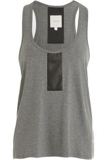 Mason by Michelle Mason Leather Panel Tank - Lyst