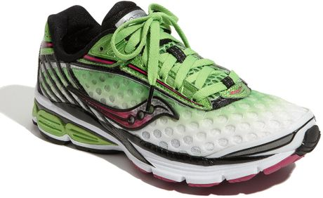 Green and Pink Saucony Running Shoes