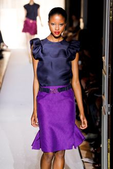 Yves Saint Laurent Spring 2012 Runway Look 6 - Lyst