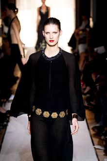 Yves Saint Laurent Spring 2012 Leather Belt With Golden Hexagon Detail - Lyst