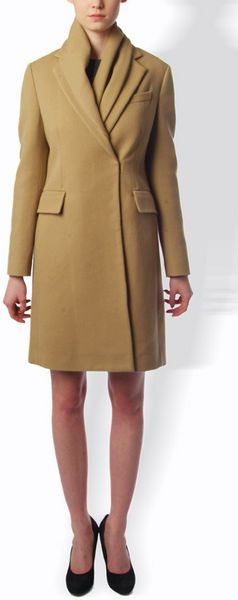 3.1 Phillip Lim Single Breasted Coat with Scarf in Beige (camel) - Lyst