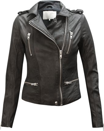 Iro Agata Black Leather Biker Jacket - Lyst