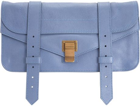 Proenza Schouler Ps1 Pochette Leather in Blue (lilac) - Lyst