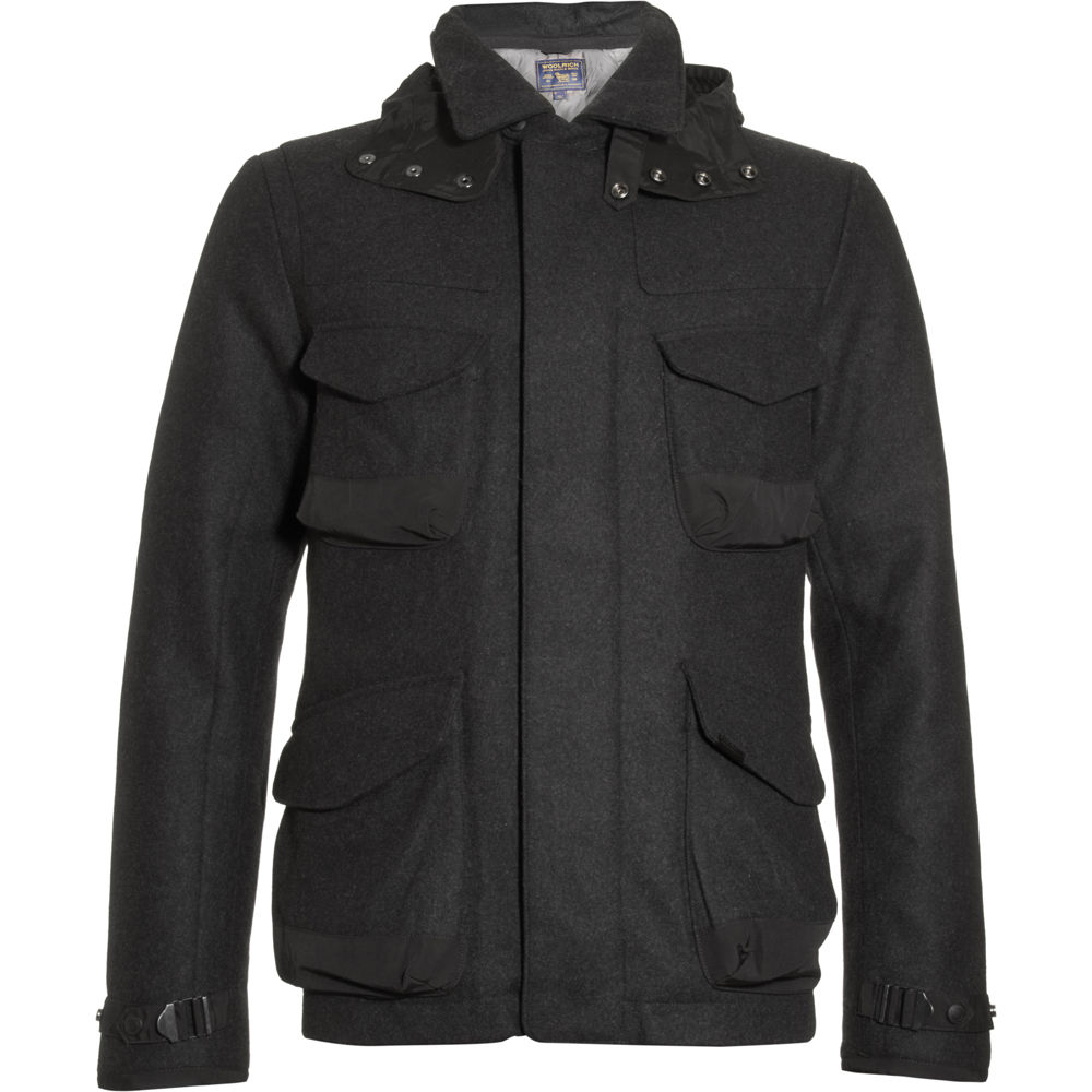 woolrich field jacket in black for men lyst. Black Bedroom Furniture Sets. Home Design Ideas