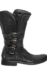 BB Bruno Bordese 20mm Washed Calf Buckled Boots - Lyst