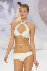Chanel Spring 2012 Halter Bikini With Sweetheart Neckline in White - Lyst