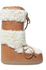 Chloé Sheepsfur and Calfskin Moon Boot Boots - Lyst