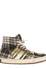 Collection Priveé Tartan High Top Sneakers - Lyst