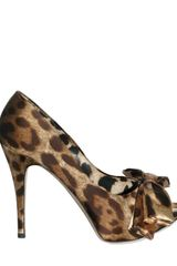 Dolce & Gabbana 110mm Satin Bow Pumps - Lyst