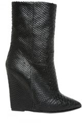 Giuseppe Zanotti 120mm Python Print Low Boot Wedges - Lyst