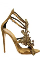Giuseppe Zanotti 115mm Silk and Swarovski Sandals - Lyst