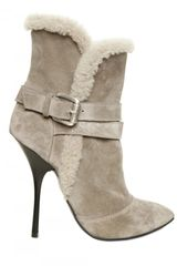 Giuseppe Zanotti 120mm Suede and Buckled Pointy Boots - Lyst