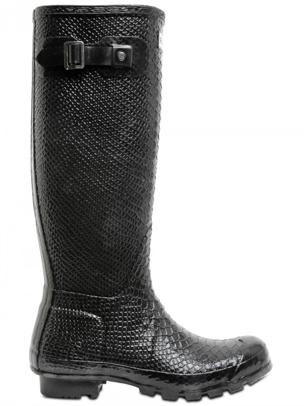 Hunter Snake Print Boots In Black Lyst
