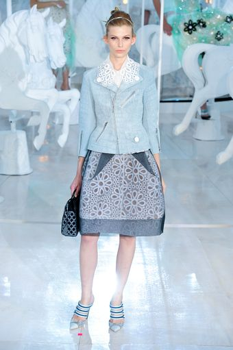 Louis Vuitton Spring 2012 Biker Jacket with Broderie Anglaise Collar - Lyst