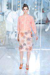 Louis Vuitton Spring 2012 Peach Shirt with Broderie Anglaise in Orange - Lyst