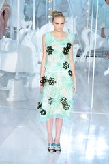 Louis Vuitton Spring 2012 Sheer Blue Floral Embellished Sleeveless Top  in Blue - Lyst