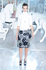 Louis Vuitton Spring 2012 Sheer Floral Embellished Midi Skirt - Lyst