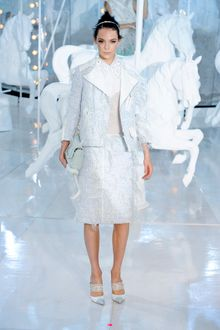Louis Vuitton Spring 2012 Icy Ombré Feather Trimmed Jacket  - Lyst