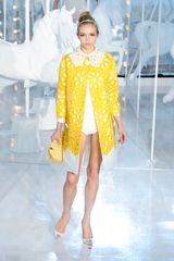 Louis Vuitton Spring 2012 Yellow Floral Broaderie Anglaise Coat   - Lyst