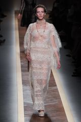 Valentino Spring 2012 Sheer Lace Maxi Dress - Lyst